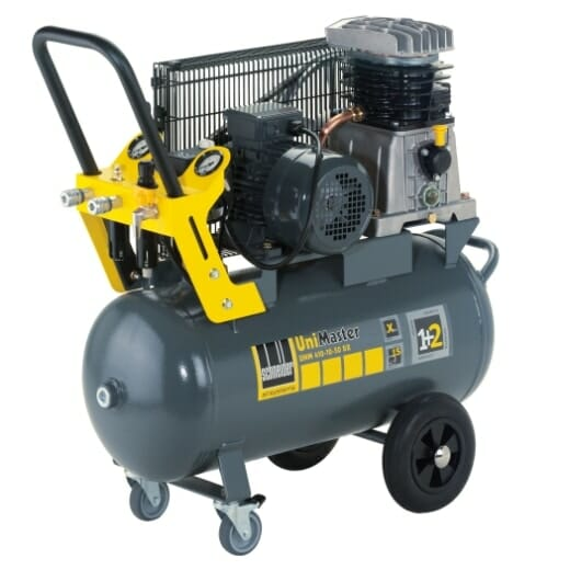 Extra vybavený kompresor. - 2 vývody vzduchu. Suchý a přimazávaný. - Filtr - bezpečnostní rychlospojky.  Bez kompromisů. Použití na 400V!