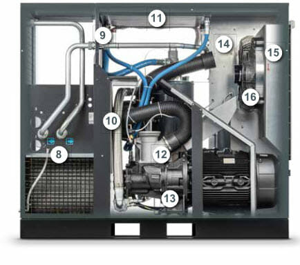 Šroubové kompresory 30-45kW, 03